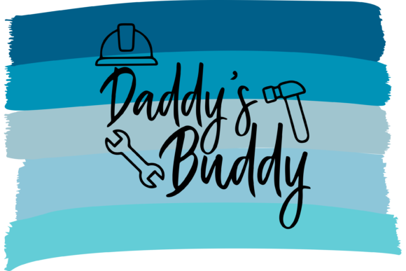 Print on Demand: Daddy's Buddy Father's Day T-Shirt Graphic Print Templates By AM Digital Designs