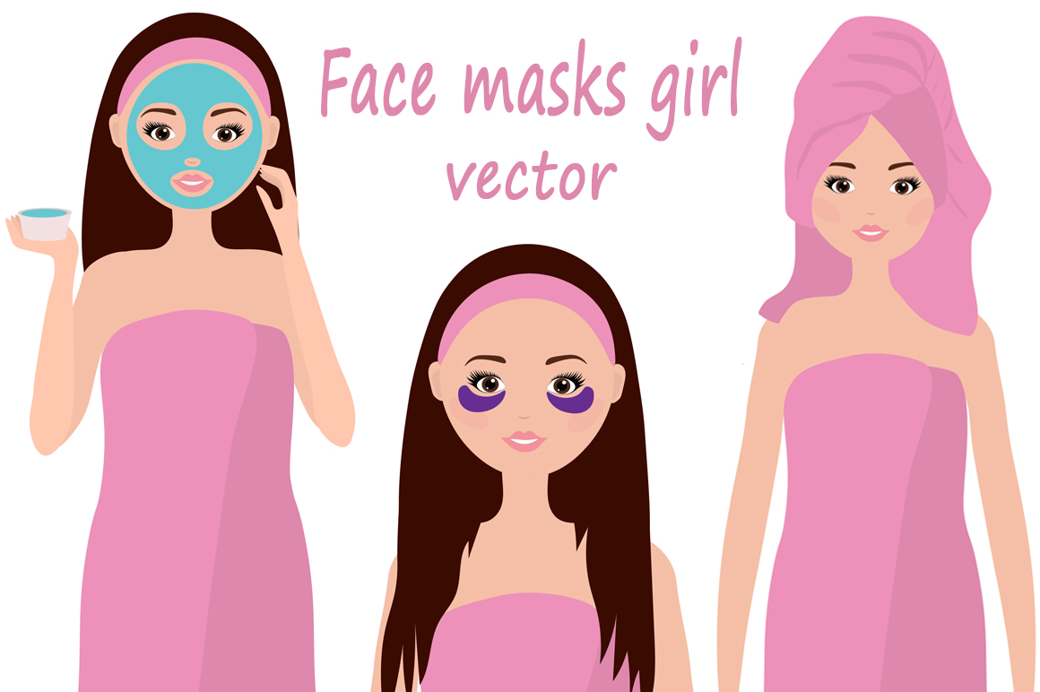 Download Free Facial Masks Girl Vector Illustration Graphic By Shishkovaiv for Cricut Explore, Silhouette and other cutting machines.