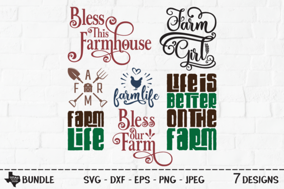 Download Free Farm Bundle Country Designs Graphic By Texassoutherncuts Creative Fabrica for Cricut Explore, Silhouette and other cutting machines.