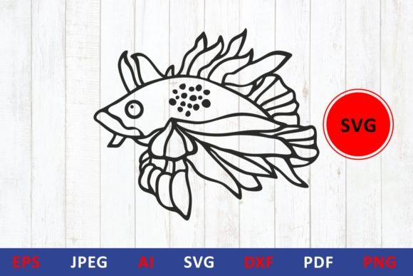 Download Free Fish Icon Graphic By Millerzoa Creative Fabrica for Cricut Explore, Silhouette and other cutting machines.