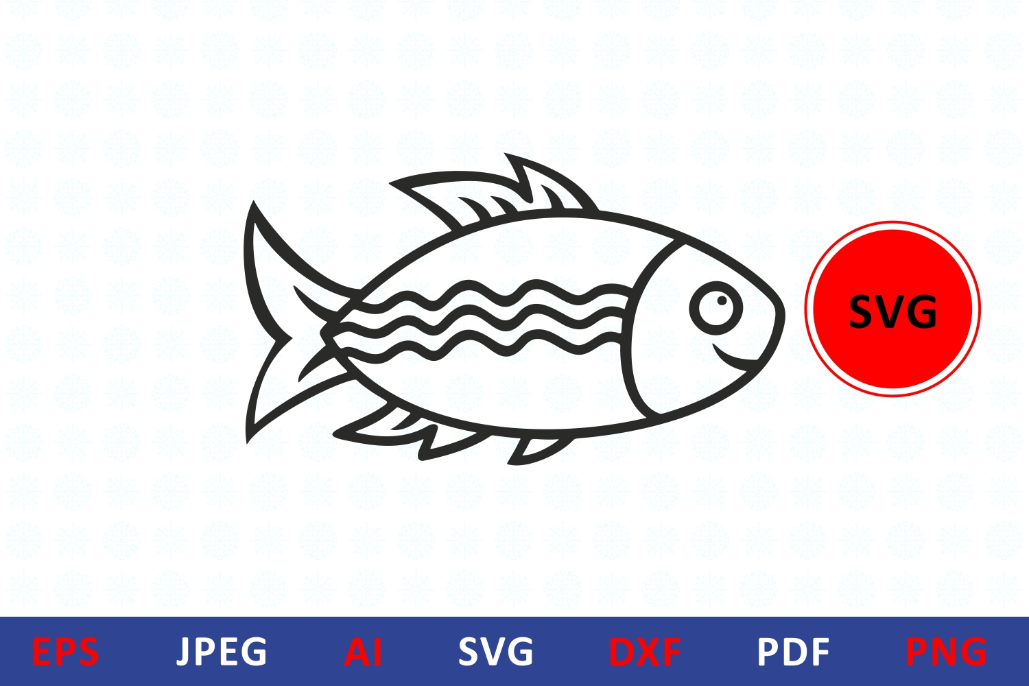 Download Free Fish Icon For Craft Graphic By Millerzoa Creative Fabrica for Cricut Explore, Silhouette and other cutting machines.