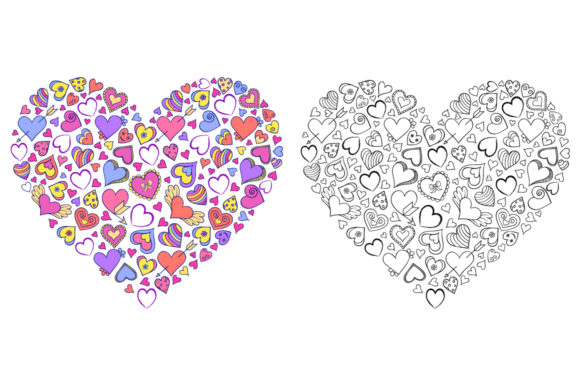 Floral Hearts - Coloring Pages Graphic Coloring Pages & Books Adults By fatamorganaoptic - Image 4