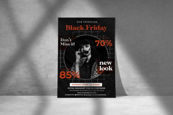 Download Free Flyer Design Black Friday Graphic By Rzkaamalya Creative Fabrica for Cricut Explore, Silhouette and other cutting machines.