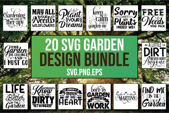 Download Free Garden Vector Designs Bundle Graphic By Patternfeed Creative for Cricut Explore, Silhouette and other cutting machines.