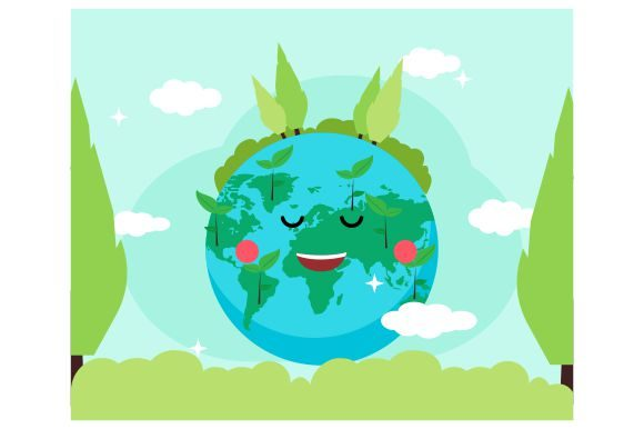 Download Free Happy World Environment Day Flat Design Graphic By Redvy for Cricut Explore, Silhouette and other cutting machines.