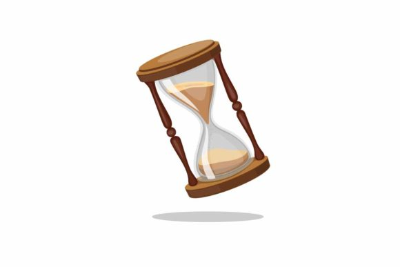 Print on Demand: Hourglass Vintage Sand Glass Timer Icon Graphic Illustrations By aryo.hadi