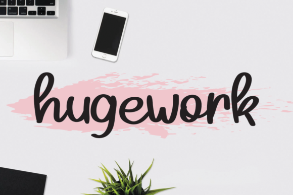 Print on Demand: Hugework Script & Handwritten Font By andikastudio