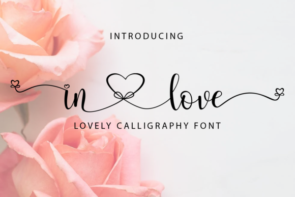 Print on Demand: In Love Script & Handwritten Font By koko.sample