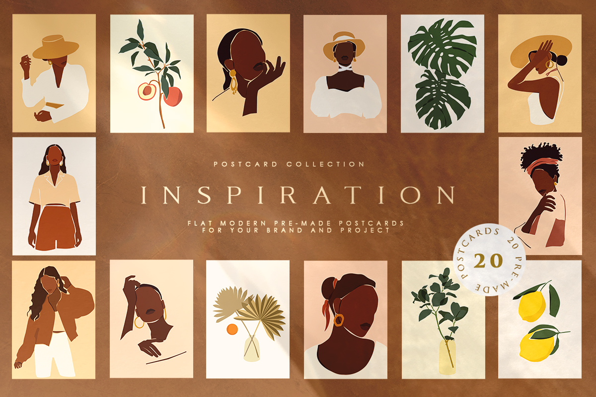 Download Free Inspiration Postcard Collection Graphic By Nassyart Creative for Cricut Explore, Silhouette and other cutting machines.