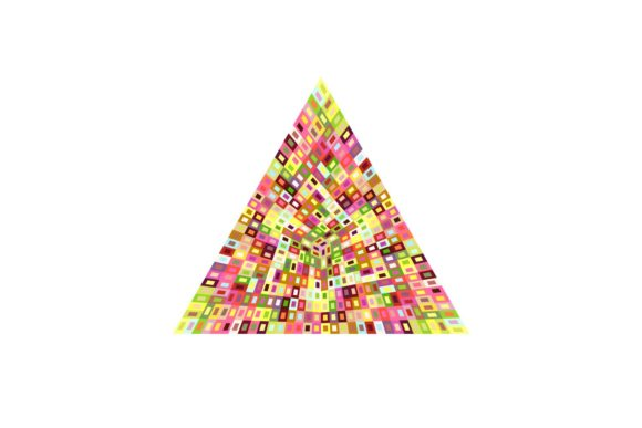 Isolated Colorful Mosaic Polygon Symbol Graphic Objects By davidzydd