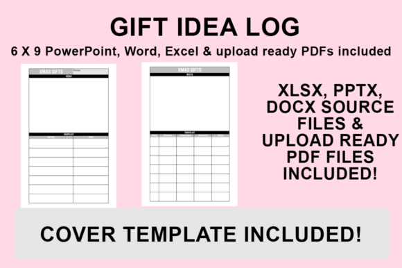 Download Free Kdp Interior Gift Idea Log Graphic By Luke Bowes Creative for Cricut Explore, Silhouette and other cutting machines.
