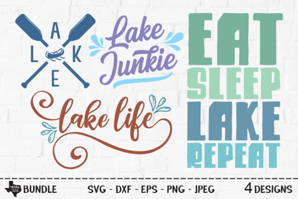 Print on Demand: Lake Bundle - Outdoor Shirt Designs Graphic Crafts By texassoutherncuts