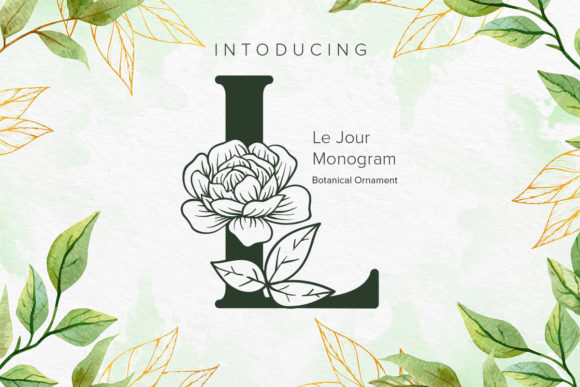 Print on Demand: Le Jour Monogram Display Font By Monogram Lovers