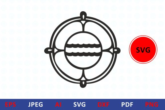 Download Free Lifebuoy Icon Life Buoy Graphic By Millerzoa Creative Fabrica for Cricut Explore, Silhouette and other cutting machines.