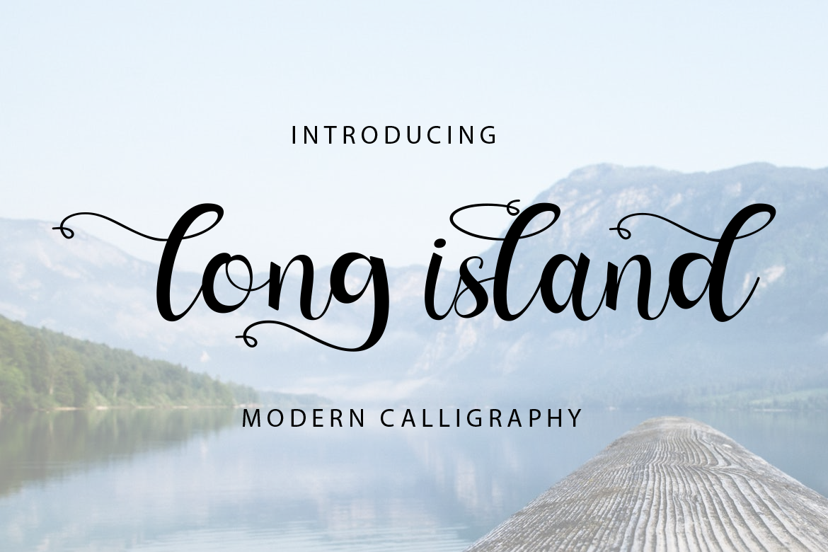 Download Free Long Island Font By Koko Sample Creative Fabrica for Cricut Explore, Silhouette and other cutting machines.