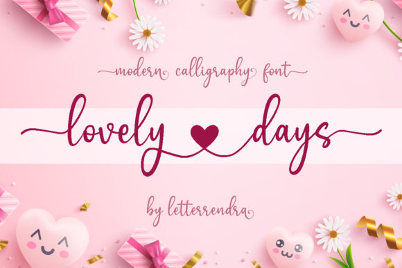 Print on Demand: Lovely Days Manuscrita Fuente Por Letterrendra