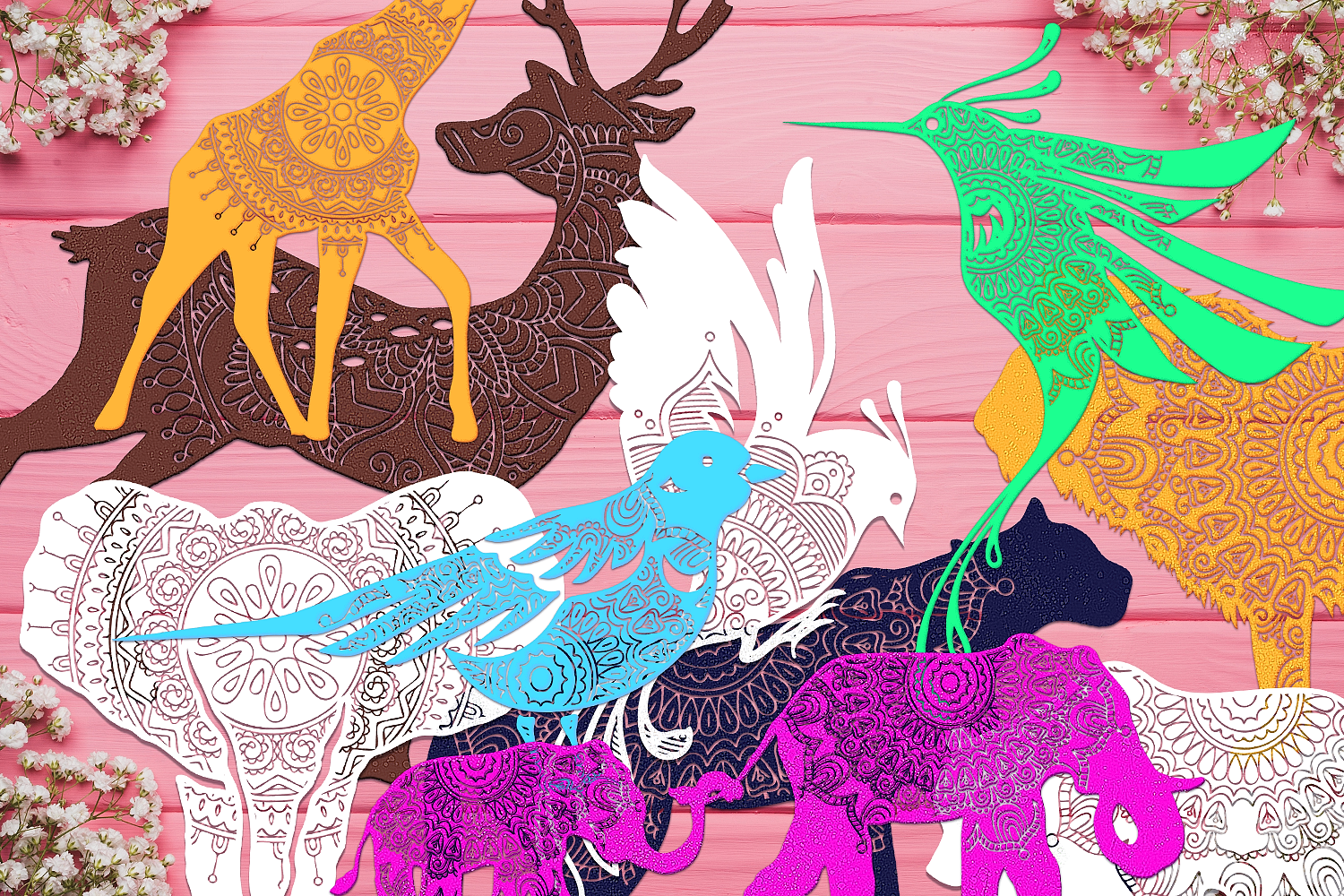 Download Free Mandala Animals Svg Files Pack Graphic By Craft N Cuts for Cricut Explore, Silhouette and other cutting machines.