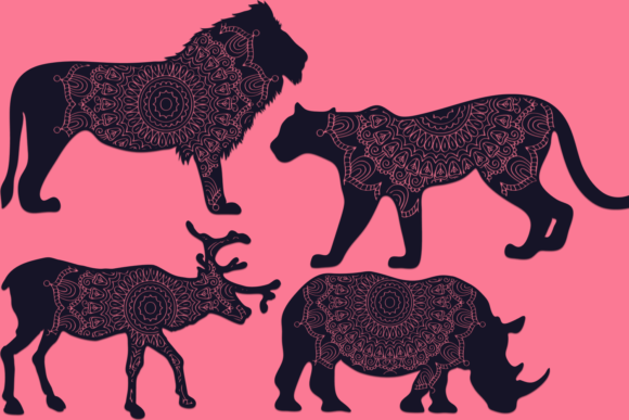 Download Free Mandala Animals Files Pack Graphic By Craft N Cuts Creative for Cricut Explore, Silhouette and other cutting machines.