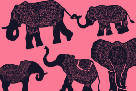 Download Free Mandala Animals Files Pack Graphic By Craft N Cuts Creative Fabrica for Cricut Explore, Silhouette and other cutting machines.