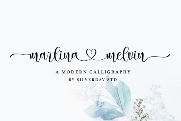 Print on Demand: Marlina Melvin Script & Handwritten Font By silverdav