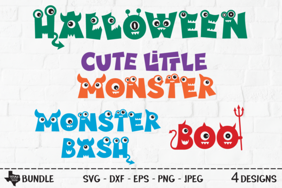 Download Free Monster Halloween Bundle Graphic By Texassoutherncuts Creative for Cricut Explore, Silhouette and other cutting machines.