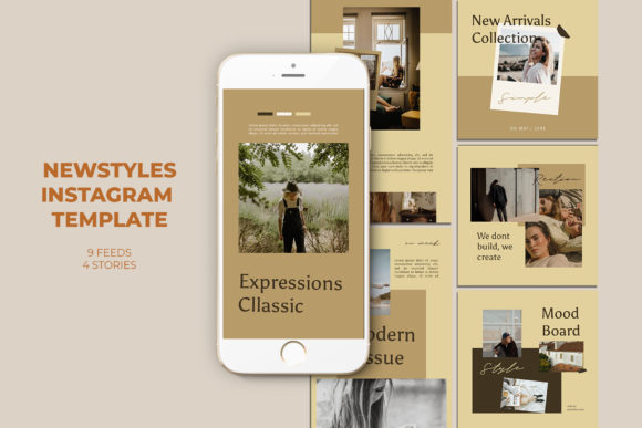 Newstyles Instagram Templates Graphic Web Elements By qohhaarqhaz