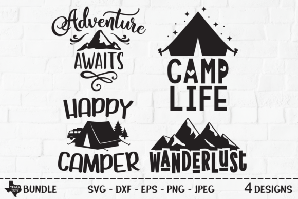 Download Free Outdoors Bundle Camping Shirt Designs Graphic By for Cricut Explore, Silhouette and other cutting machines.