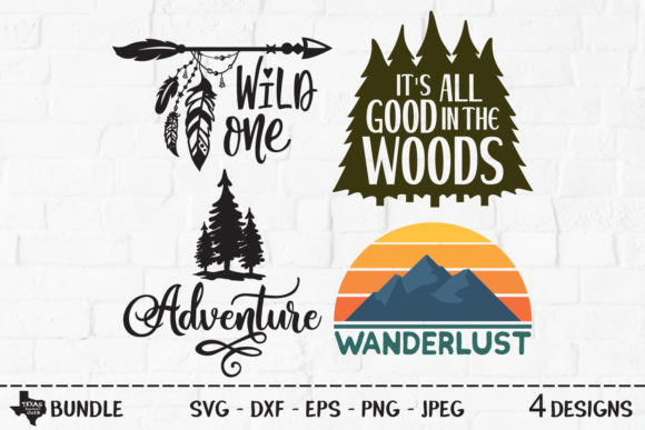 Download Free 1 Woodland Forest Designs Graphics for Cricut Explore, Silhouette and other cutting machines.