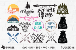 Download Free Outdoors Super Bundle Outdoor Designs Grafico Por for Cricut Explore, Silhouette and other cutting machines.
