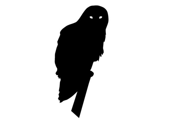 Download Free Owl Silhouette Vector Graphic By Evand Creative Fabrica for Cricut Explore, Silhouette and other cutting machines.
