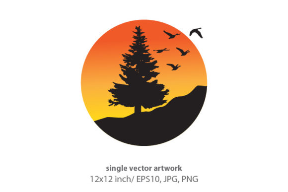 Download Free Pine Tree Graphic By Biljanacvetanovic Creative Fabrica for Cricut Explore, Silhouette and other cutting machines.