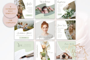 Print on Demand:  Instagram Post Template Set #6 Graphic Presentation Templates By daphnepopuliers