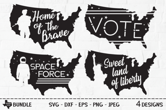 Print on Demand: Patriotic Bundle - USA Shirt Designs Graphic Crafts By texassoutherncuts