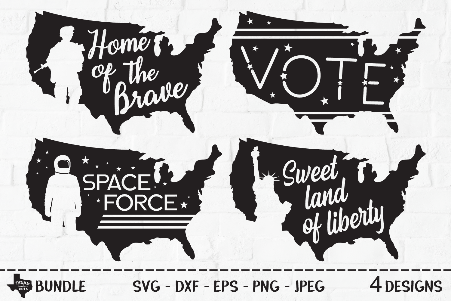 Download Free Patriotic Bundle Usa Shirt Designs Graphic By for Cricut Explore, Silhouette and other cutting machines.