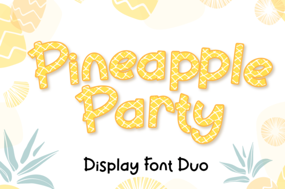 Print on Demand: Pineapple Party Display Font By attypestudio