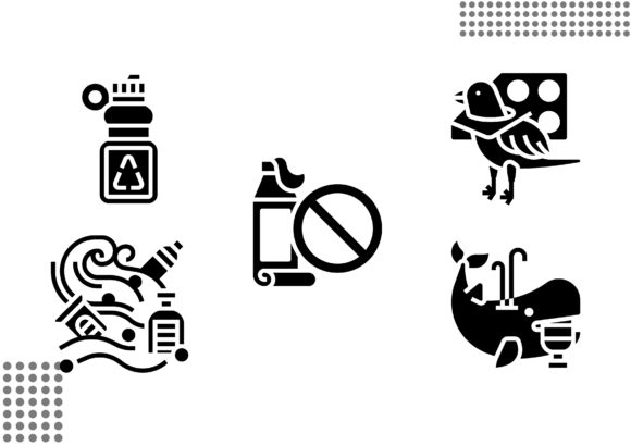 Plastic Pollution Fill Graphic Icons By cool.coolpkm3
