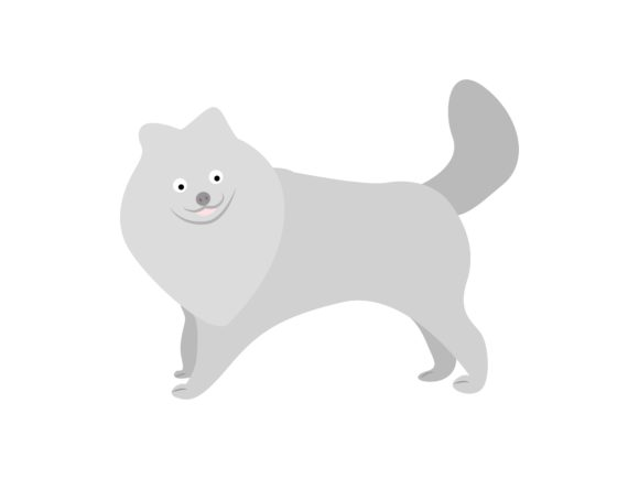 Download Free Pomeranian Dog Animal Graphic By Archshape Creative Fabrica for Cricut Explore, Silhouette and other cutting machines.