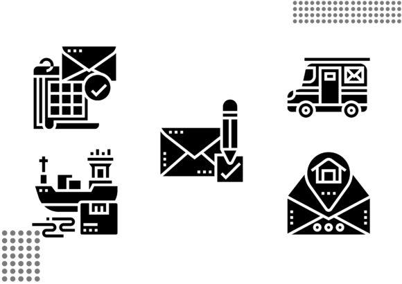 Postal Service Fill Graphic Icons By cool.coolpkm3