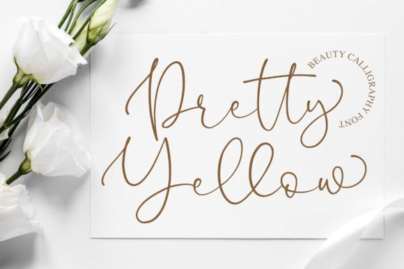 Print on Demand: Pretty Yellow Script & Handwritten Font By Blankids Studio