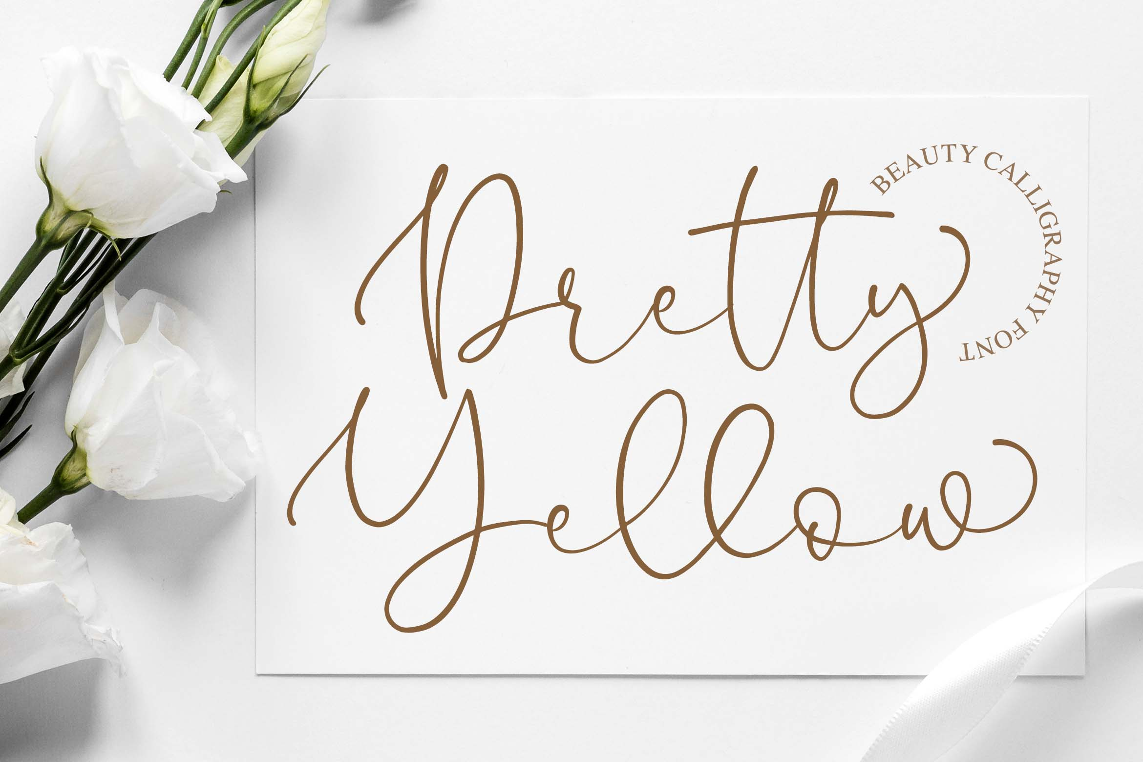 Download Free Pretty Yellow Font By Blankids Studio Creative Fabrica for Cricut Explore, Silhouette and other cutting machines.