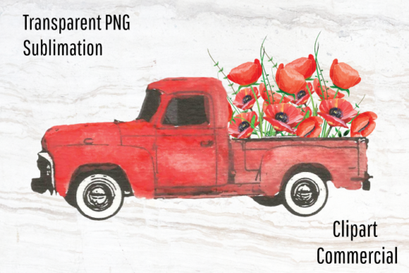 Download Free Red Truck Clipart Sublimation Design Graphic By Blueberry Jam for Cricut Explore, Silhouette and other cutting machines.
