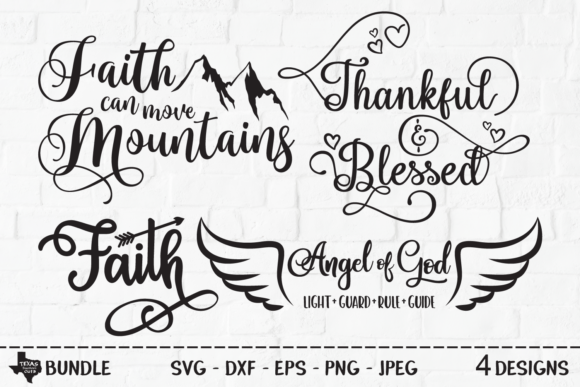 Download Free Religious Bundle Christian Designs Graphic By for Cricut Explore, Silhouette and other cutting machines.