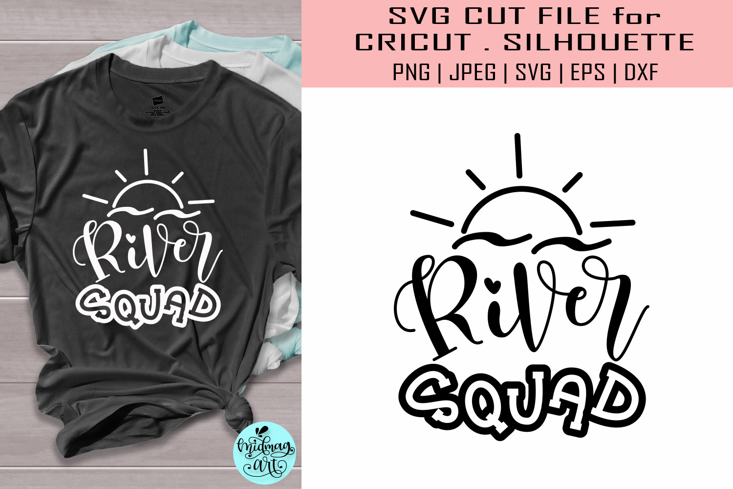 Download Free River Squad Summer Graphic By Midmagart Creative Fabrica SVG Cut Files