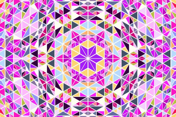 Round Tiled Triangle Mosaic Background Graphic Patterns By davidzydd