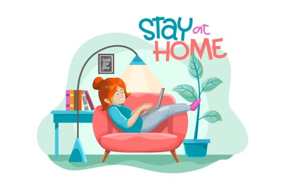 Print on Demand: Stay at Home Graphic Illustrations By Olexstudio