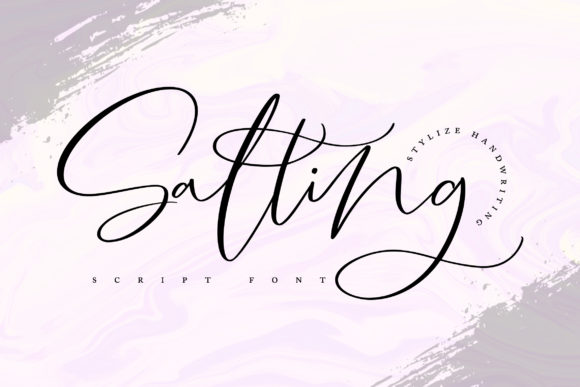 Print on Demand: Salting Script & Handwritten Font By Vunira