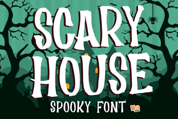Print on Demand: Scary House Display Font By dmletter31