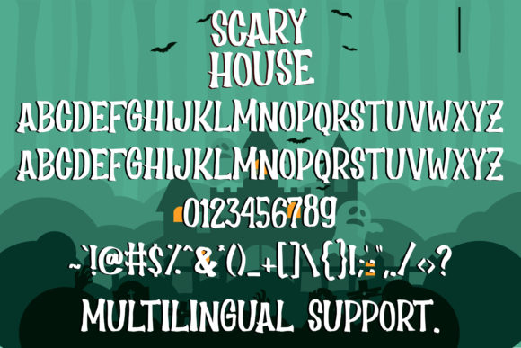 Scary House Font Image