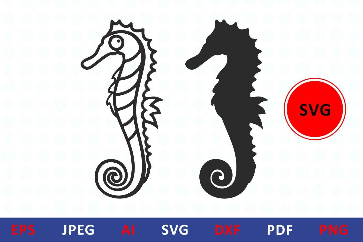 Download Free Seahorse Silhouette Icon Sea Horse Graphic By Millerzoa for Cricut Explore, Silhouette and other cutting machines.