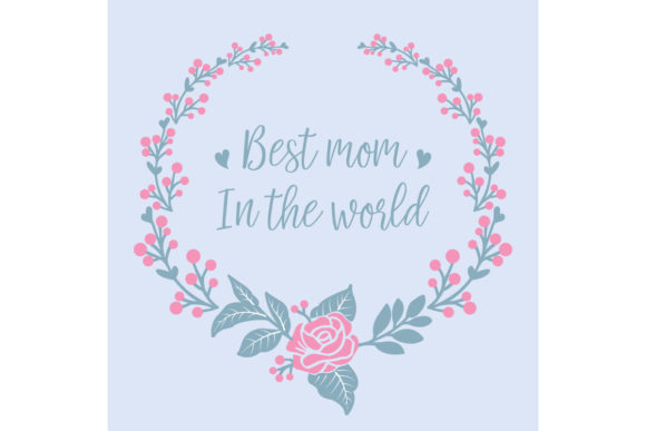 Download Free Seamless Decor For Best Mom In The World Graphic By Stockfloral for Cricut Explore, Silhouette and other cutting machines.